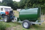 Galvanised Water Bowser with Pumping Equipment